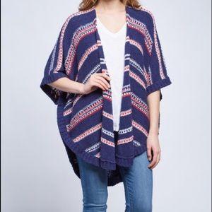 NYDJ Republique Stripe Cocoon Cardigan